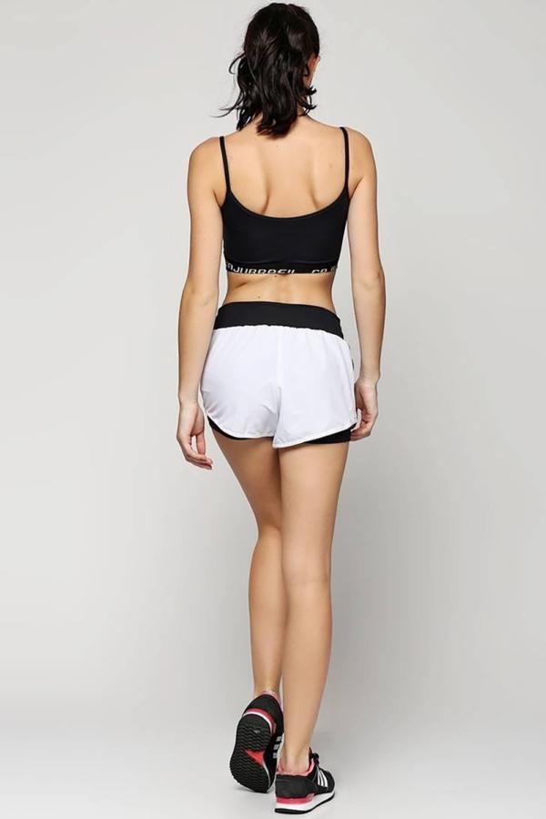 Шорты Cajubrasil Short Elastic Branco - Designed For Fitness