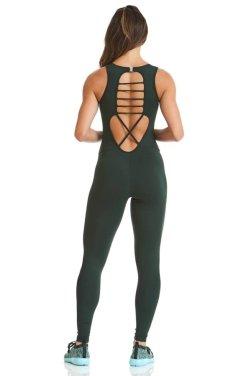 Комбинезон Cajubrasil Macacao NZ Basic (зеленый) - женская спортивная одежда Designed For Fitness