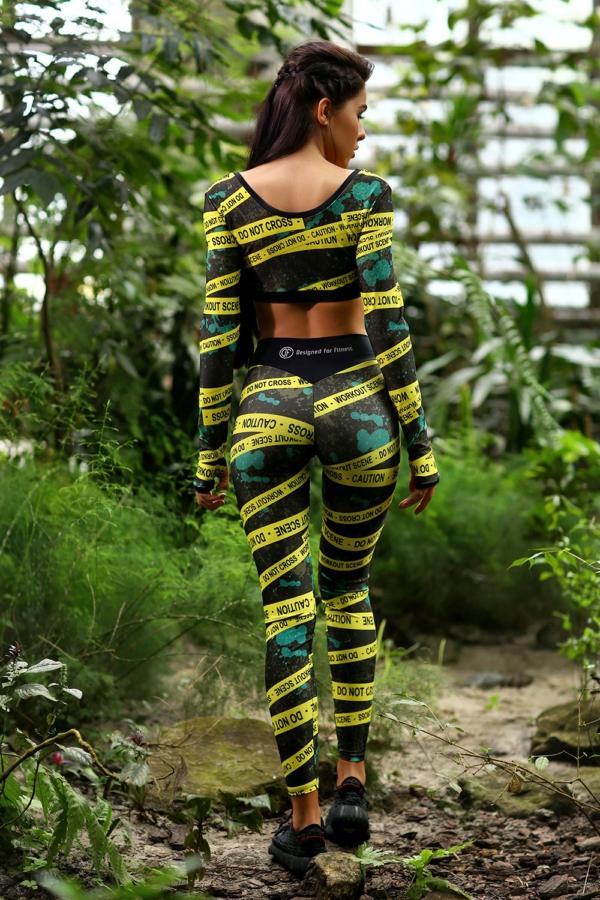 Комплект Caution (топ+лосины) - женская спортивная одежда Designed For Fitness