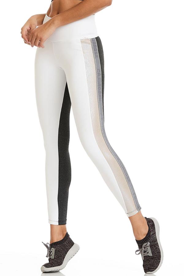 Легинсы CajuBrasil NZ Glitter (белые) - женская спортивная одежда Designed For Fitness