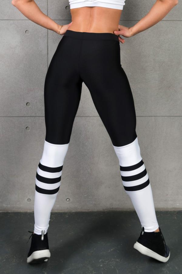Спортивные леггинсы Omnia Erinyes (полоски снизу) - Designed For Fitness
