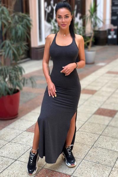 Спортивное макси-платье Designed for Fitness Dark Grey, фото №1 - Designed For Fitness