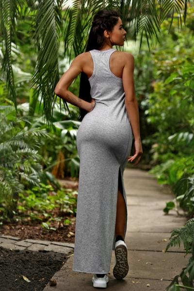 Спортивное макси-платье Designed for Fitness Light Grey, фото №1 - Designed For Fitness