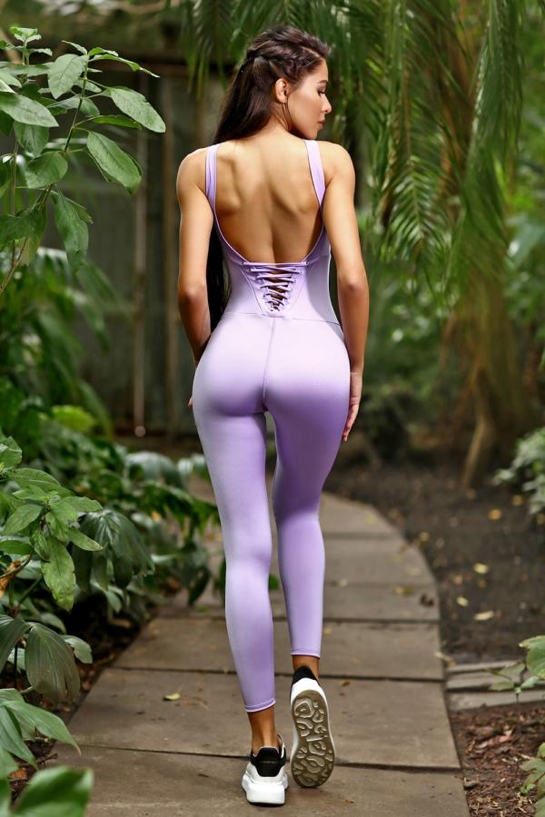 Спортивный комбинезон DF PASTEL Lilac, фото №1 - Designed For Fitness
