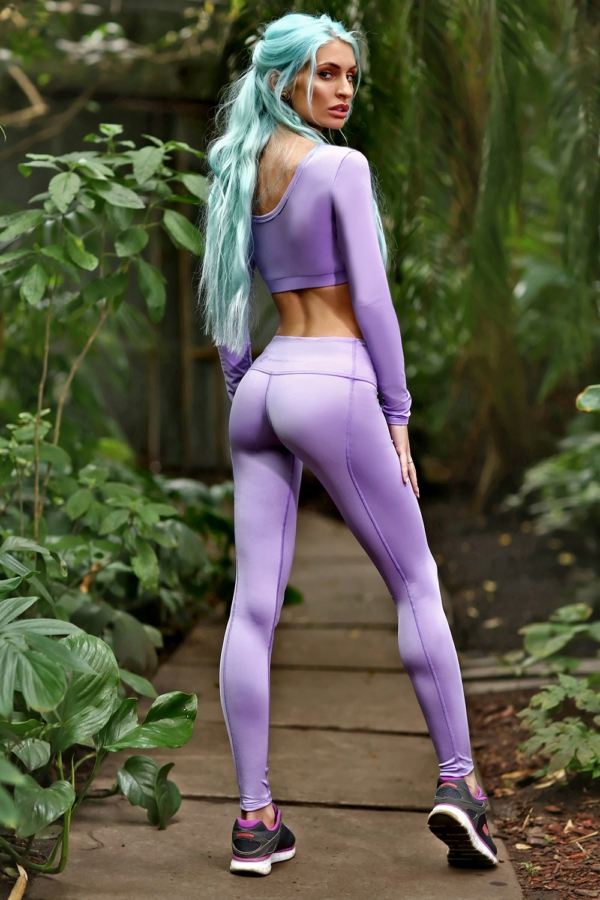 Комплект DF PASTEL Lilac (длинный рукав), фото №1 - Designed For Fitness