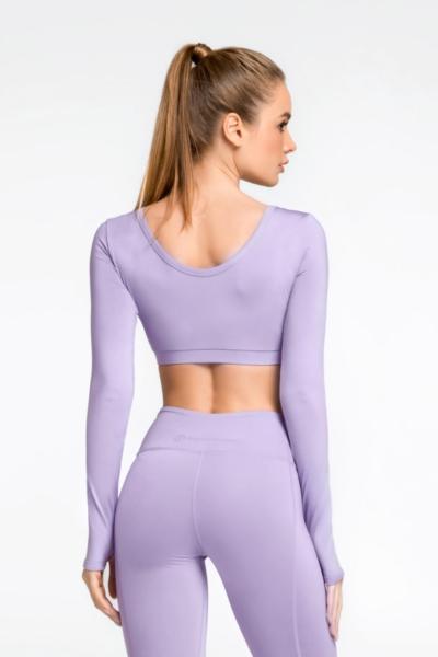 Спортивный топ DF PASTEL Lilac (длинный рукав), фото №1 - Designed For Fitness