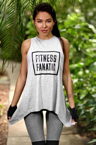 Спортивная майка Fitness Fanatic Light Grey DF, фото №1 - Designed For Fitness
