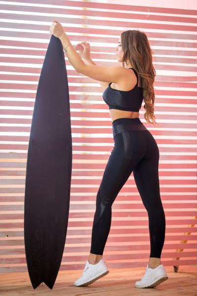 Лосины TotalFit Satin Black, фото №1 - Designed For Fitness