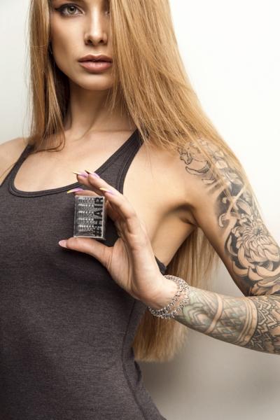 Силиконовая резинка для волос Silver (5 шт), фото №1 - Designed For Fitness