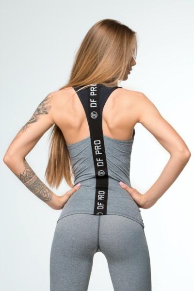 Спортивный топ для фитнеса Pro Fitness Grey DF, фото №1 - Designed For Fitness