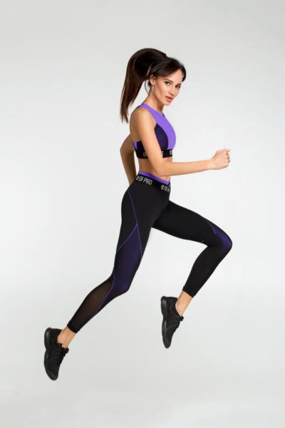 Костюм для фитнеса Pro Violet Bra (топ+лосины), фото №1 - Designed For Fitness