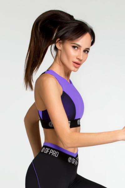 Спортивный топ для фитнеса Pro Violet Bra DF, фото №1 - Designed For Fitness