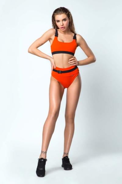 Купальник раздельный Bali Baby Orange DF, фото №1 - Designed For Fitness