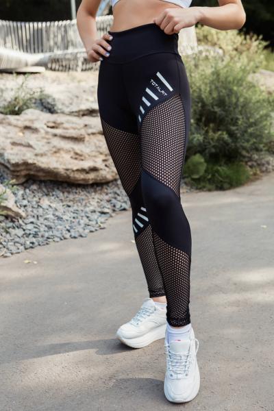 Лосины TotalFit Mesh Black, фото №1 - Designed For Fitness