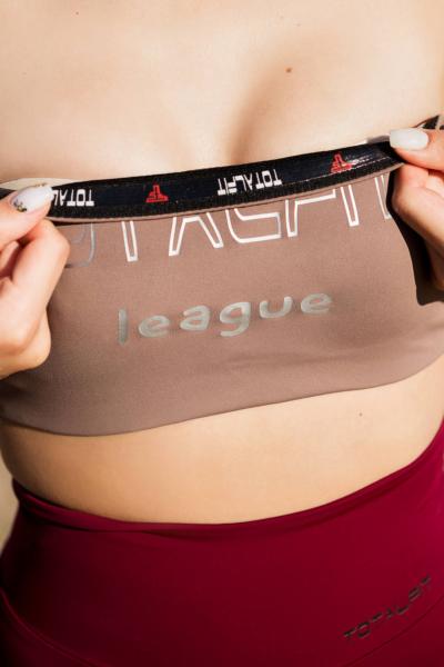 Спортивный топ-бандо для фитнеса TotalFit Nude, фото №1 - Designed For Fitness