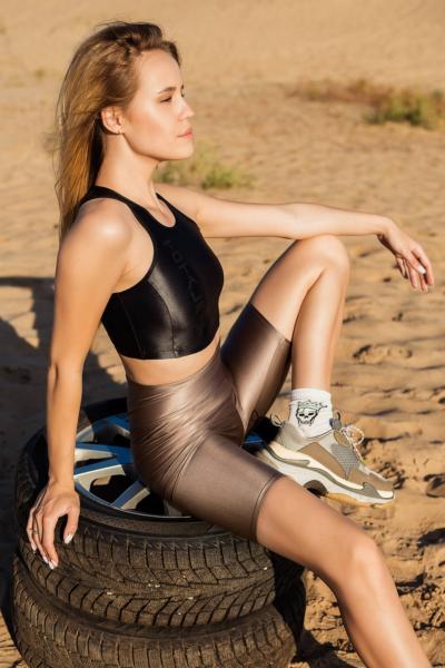 Спортивный топ для фитнеса TotalFit Comfort Satin Black, фото №1 - Designed For Fitness