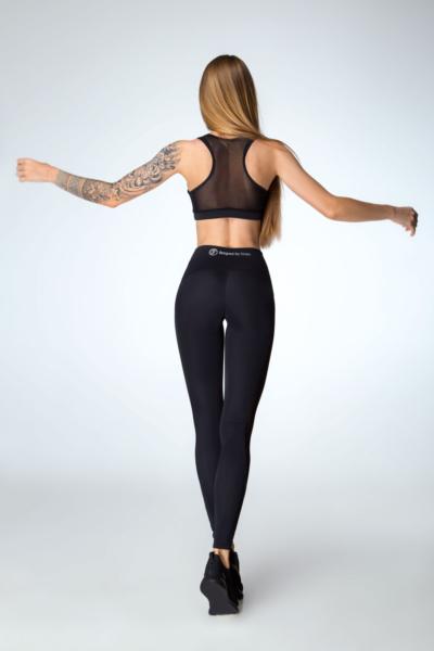 Костюм для фитнеса Classic Black DF (топ+лосины), фото №1 - Designed For Fitness