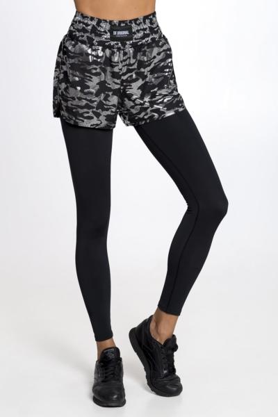 Лосины-шорты Military Black DF, фото №1 - Designed For Fitness