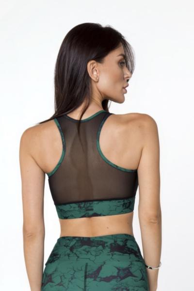 Спортивный топ-бра Marble Emerald DF, фото №1 - Designed For Fitness
