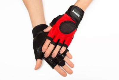 Женские перчатки для фитнеса DF Original Red, фото №1 - Designed For Fitness