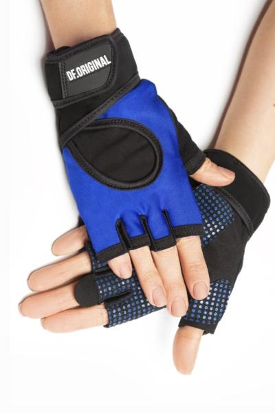 Женские перчатки для фитнеса DF Original Blue, фото №1 - Designed For Fitness