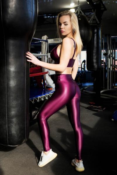 Лосины TotalFit Flash Grape, фото №1 - Designed For Fitness