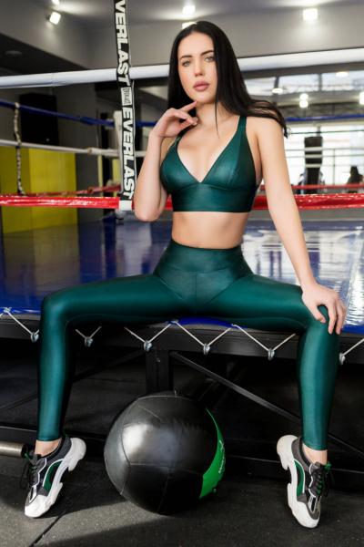Лосины TotalFit Flash Emerald, фото №1 - Designed For Fitness