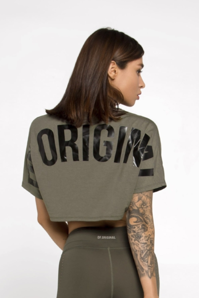 Футболка DF ORIGINAL OVERSIZE CROP Olive, фото №1 - Designed For Fitness