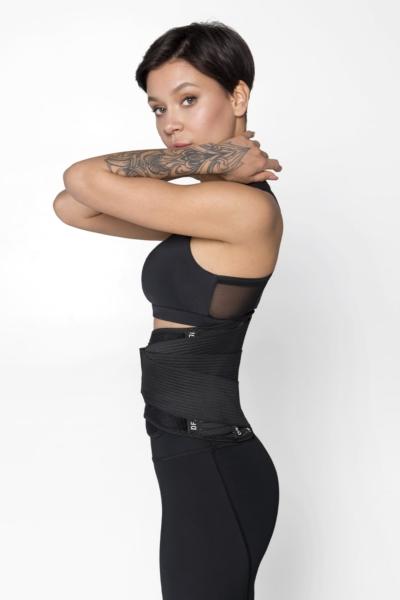 Корсетный фитнес-пояс DF Original Black, фото №1 - Designed For Fitness