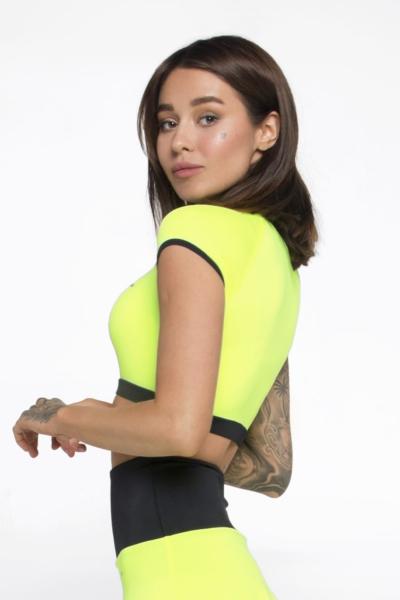 Футболка-топ New Basic Lemon DF, фото №1 - Designed For Fitness