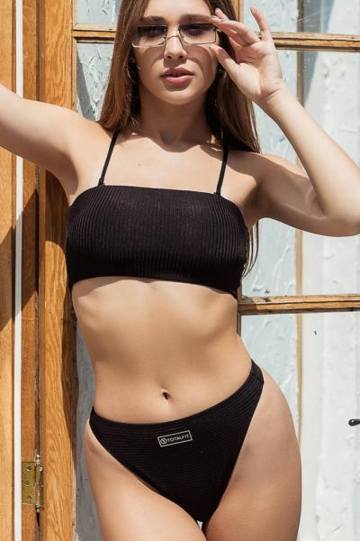 Купальник раздельный Totalfit Bando Black, фото №1 - Designed For Fitness