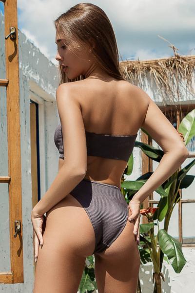 Купальник раздельный Totalfit Bando Grey, фото №1 - Designed For Fitness