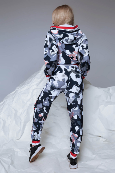 Худи TotalFit Camo Grey, фото №1 - Designed For Fitness