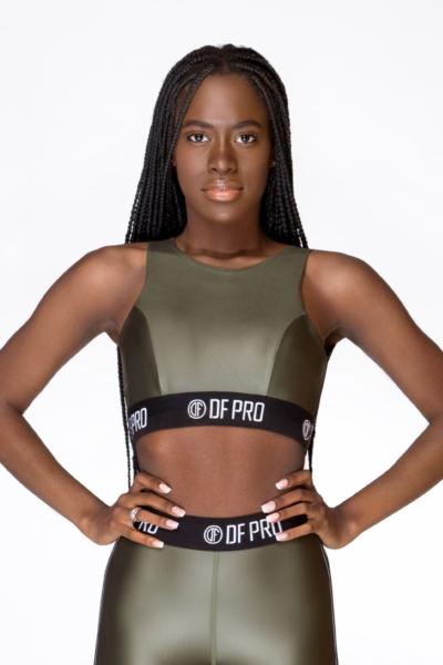 Спортивный топ-бра New Perform Pro Green DF, фото №1 - Designed For Fitness