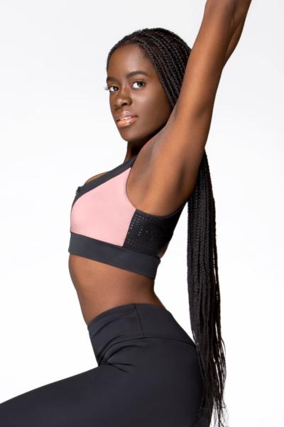 Спортивный топ-бра Rumba Crème DF, фото №1 - Designed For Fitness